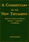 eBook Commentary on the New Testament from the Talmud and Hebraica, in 4 volumes