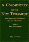 Commentary on the New Testament from the Talmud and Hebraica Vol.4