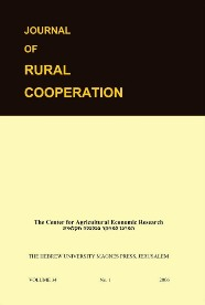 Journal of Rural Cooperation Vol. 34, 1, 2006