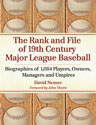 The Rank and File of 19th Century Major League Baseball